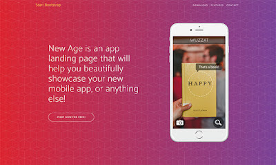 New Age Landing Page Boostrap Template Free