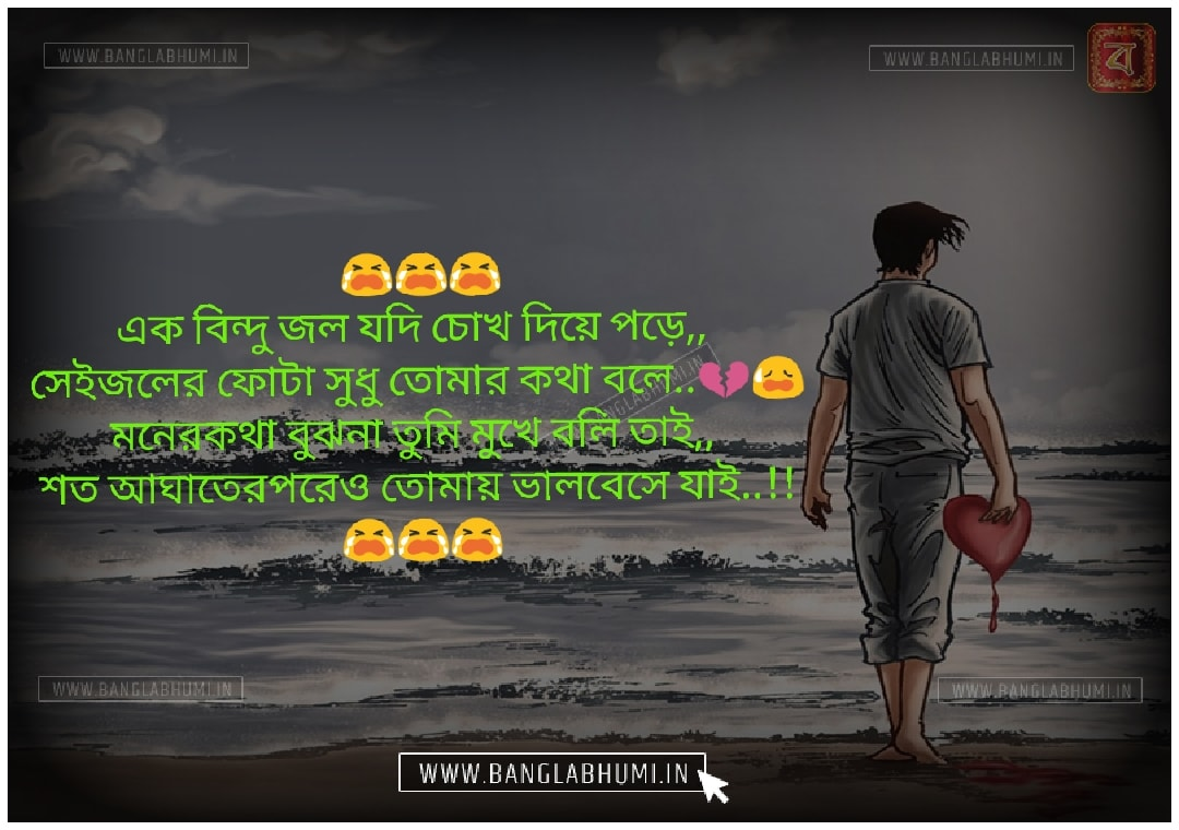 Bangla Whatsapp Sad Love Shayari Status Free Download and share