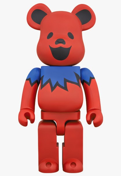 "Grateful Dead ""Dancing Bears"" 1,000% Be@rbrick Vinyl Figure by Medicom"