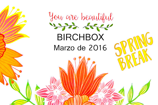 You are beautiful, la Birchbox de Marzo de 2016