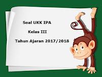 Soal UKK / UAS IPA Kelas 3 Semester 2 Terbaru Tahun Ajaran 2017/2018
