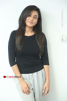 Telugu Actress Mishti Chakraborty Latest Pos in Black Top at Smile Pictures Production No 1 Movie Opening  0040.JPG