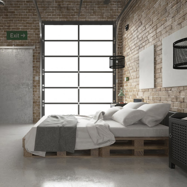 comment am nager sa chambre coucher pour une d co industrielle. Black Bedroom Furniture Sets. Home Design Ideas