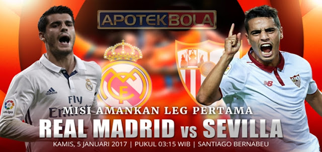 Prediksi Pertandingan Real Madrid vs Sevilla 5 Januari 2017