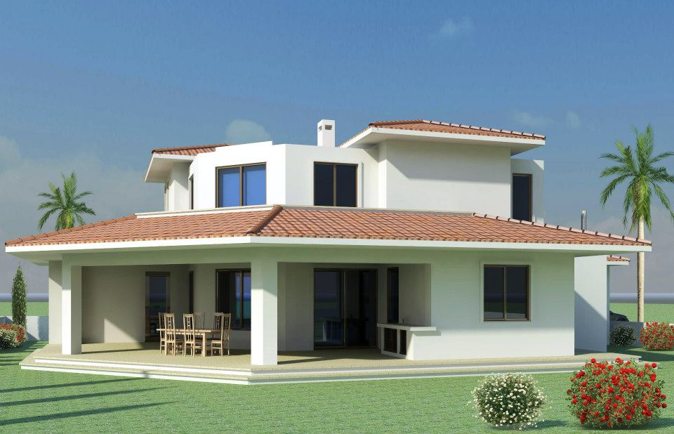Mediterranean modern homes exterior designs South indian style house plans with photos