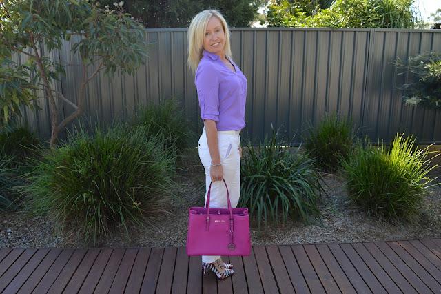 Sydney fashion Hunter - The Wednesday Pants #46 - Purple Puffa