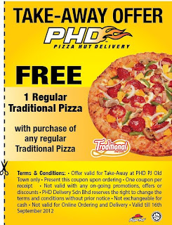 phd - PROMOTION - [ENDED] Buy 1 FREE 1 PHD Take-Away Pizza