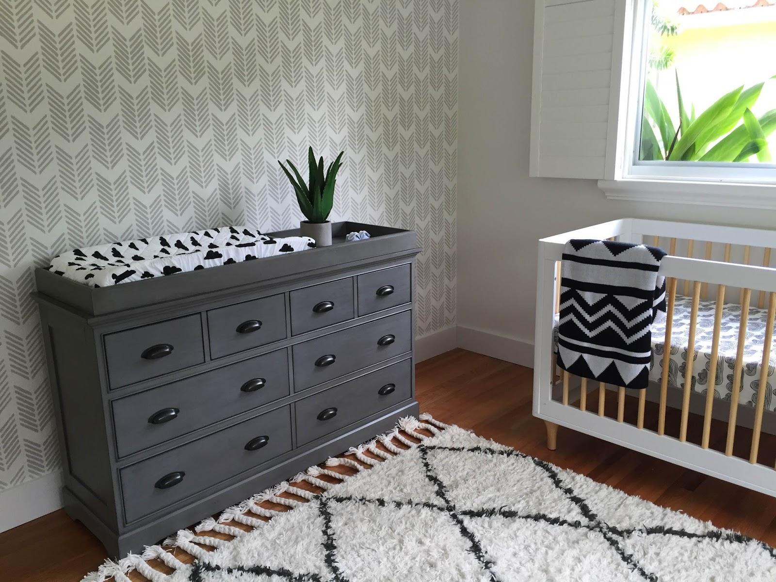 Boy nursery e-design {black and white}