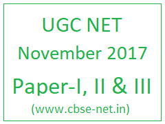 image : UGC NET NOV 2017 Exam @ cbse-net.in