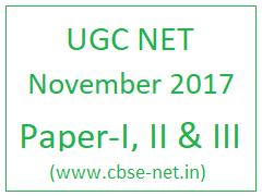 image : UGC NET NOV 2017 Exam @ cbse-net.in