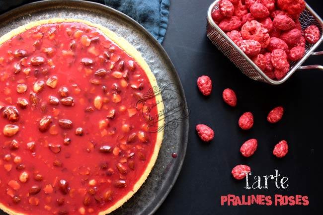 recette tarte praline rose