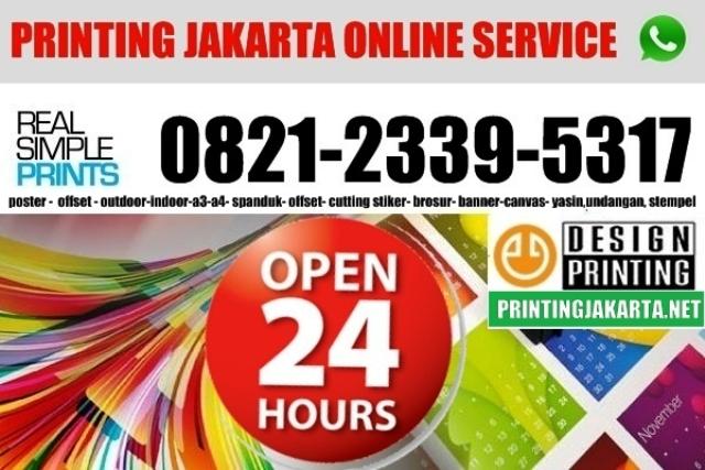 Digital printing 24 jam jakarta, tempat digital printing online murah