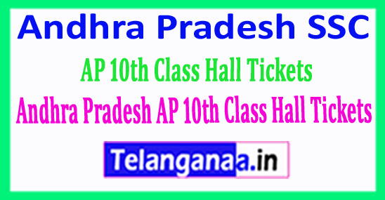 Andhra Pradesh SSC Hall Ticket 2018 AP 10th Class Hall Tickets Download