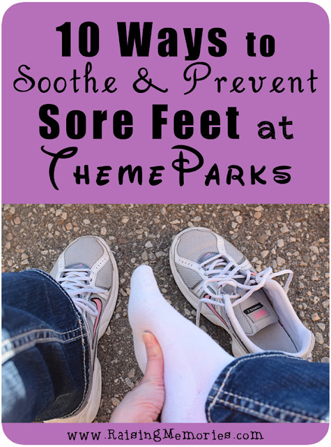 Tips for Soothing Sore Feet from Theme Parks