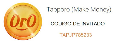 Codigo de invitación de TappOro