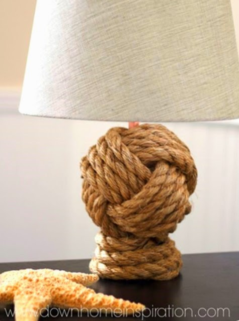 Pottery Barn Knock off knot rope table lamp