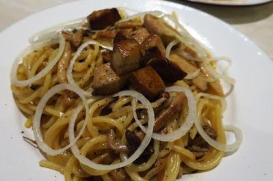 Pastaria Abate, foie gras mushroom pasta