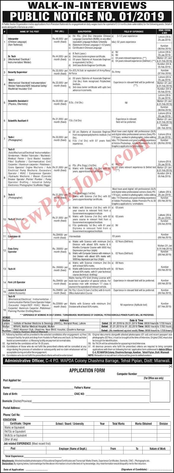 jobs in mianwali 2019 newpakjobs.com