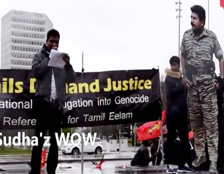 Protest Against Tamil Genocide – UNO Geneva in Switzerland 06-03-2017   Sudhaz WOW