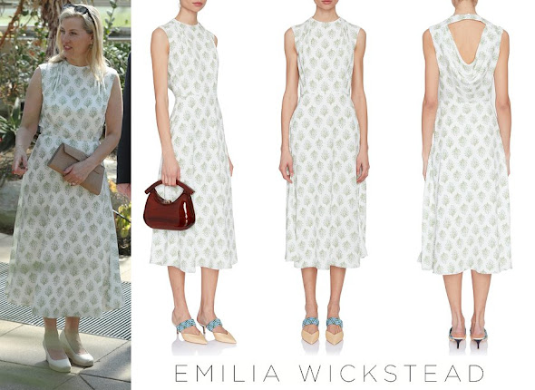 Countess Sophie of Wessex wore Emilia Wickstead Dolora Draped Floral Dress