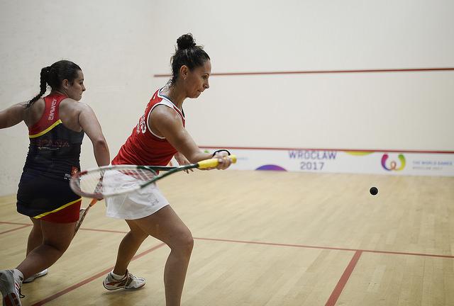 Samantha Terán eliminó a Cristina Gómez en la primera fase del squash de los Juegos Mundiales 2017 en Breslavia