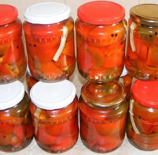 gogosari murati, conserve si muraturi pentru iarna, retete, retete gogosari in otet, gogosari la borcan, retete culinare,