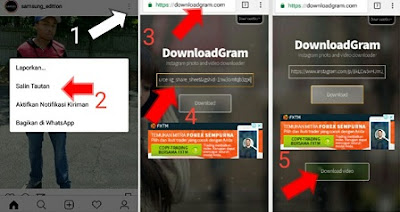 cara mendownload video di instgram