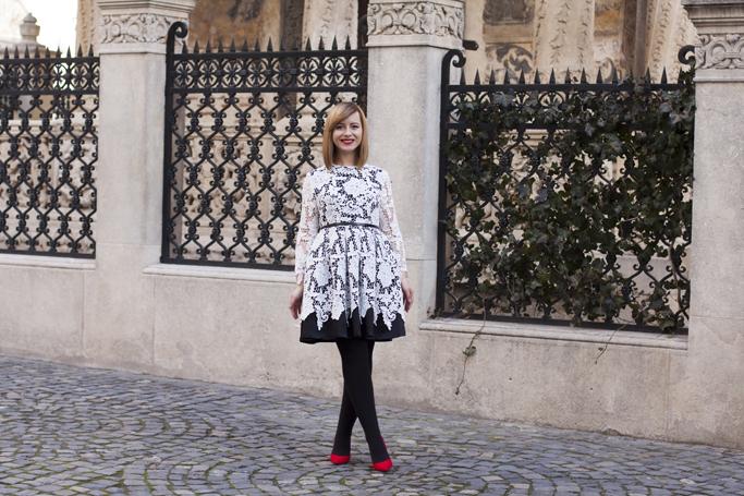 the elegant lace dress