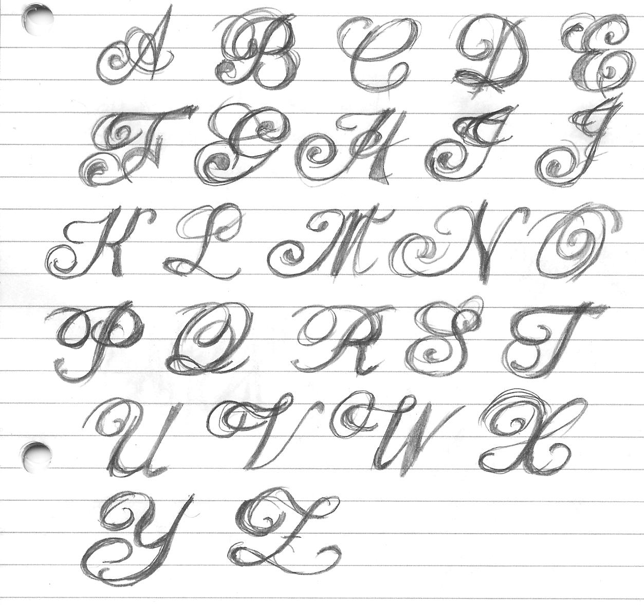 fancy writing alphabet styles images