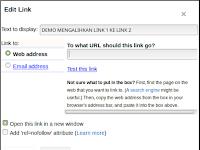 Cara Mengalihkan Link 1 ke Link 2 Pada Artikel Bloger
