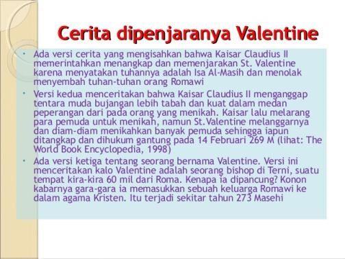 sejarah lahirnya hari valentine