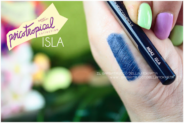 biopastello occhi ISLA SWATCHES eyepencil psicotropical collection neve cosmetics