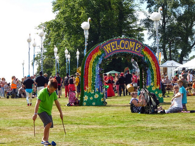 camp bestival festival field circus skills children