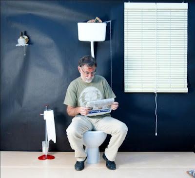 Luis Rajadell, wc, tassa del wc, assentat, cagán, merda, merdós,