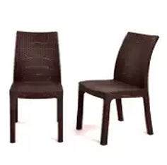 Outdoor Furniture, Wicker Dining Chairs, Wicker Outdoor Furniture,Keter Milan 2 pc Modern All Weather Patio Dining Chairs