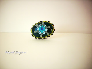 polymer clay, ring, brone