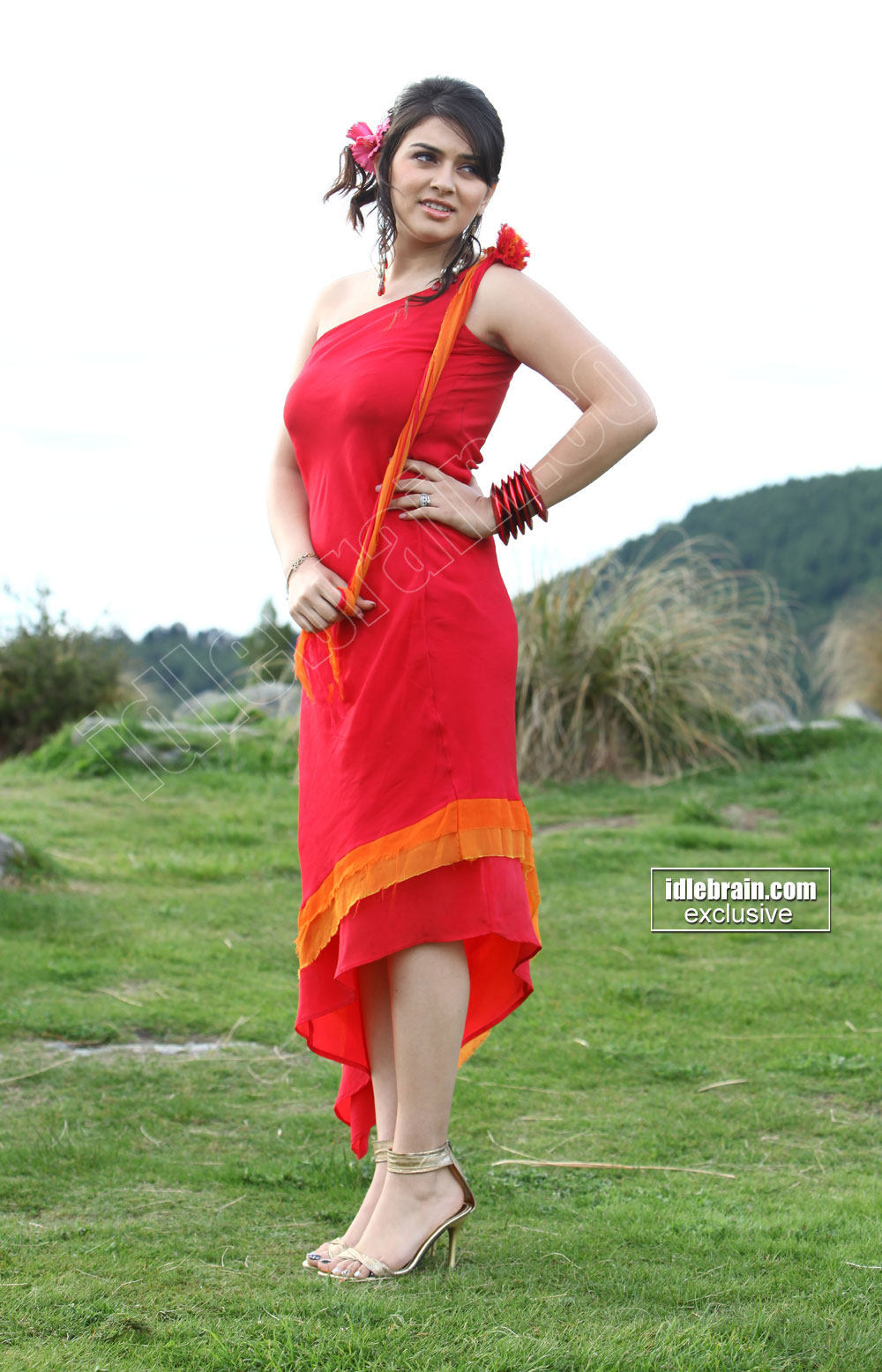 Hansika In Red Cute Dress I Tamil Cine Masala