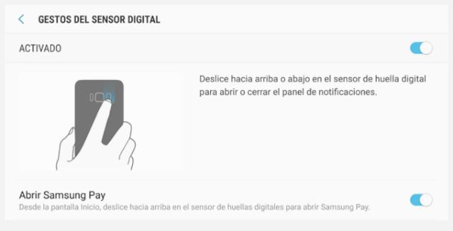 Activar los gestos para las notificaciones con el sensor de huella dactilar