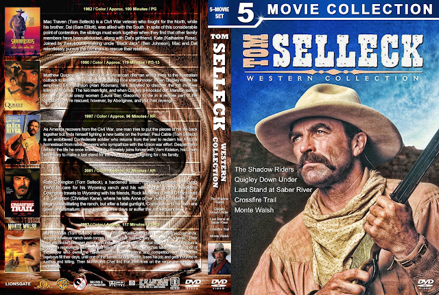 Tom Selleck Western Collection DVD Cover