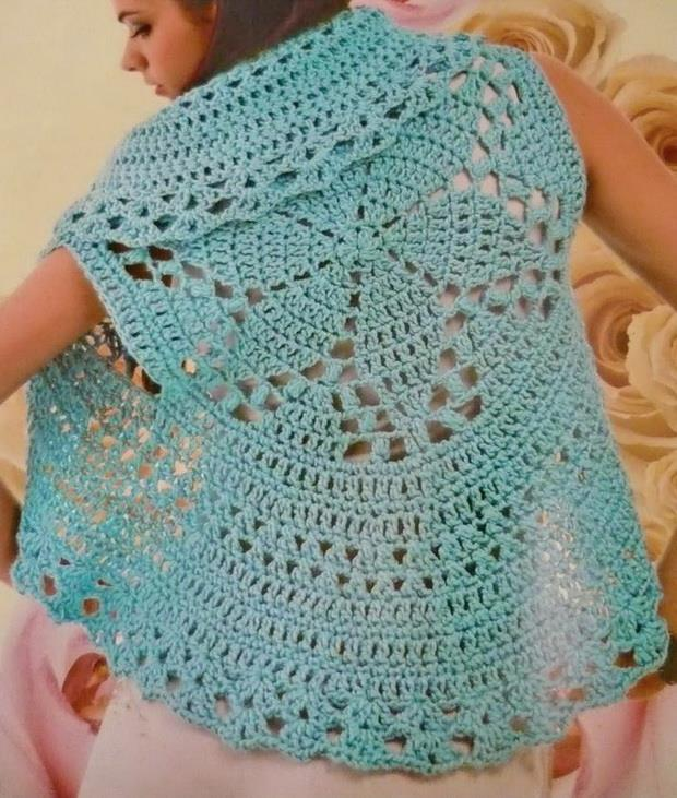 Crochet Sweaters Vest Circular Crochet Vest For Women