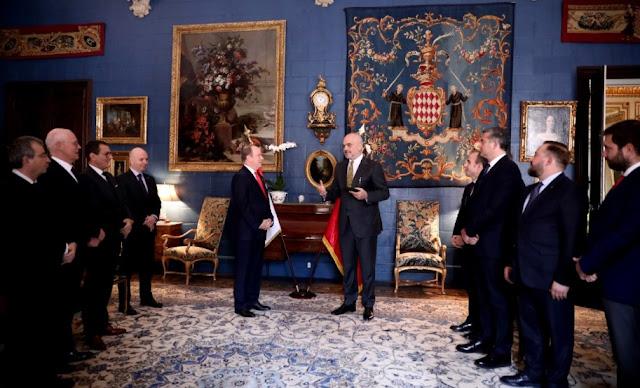 Monaco Prince Albert II honored Albanian Prime Edi Rama with the Order of Saint-Charles
