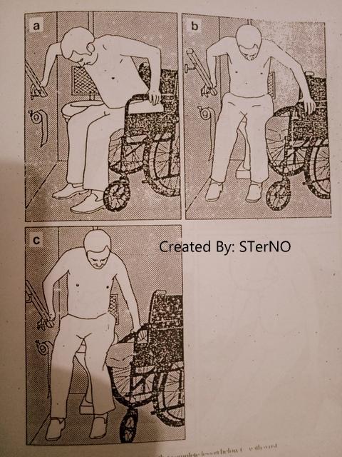 cara memindahkan pasien dari kursi roda ke toilet