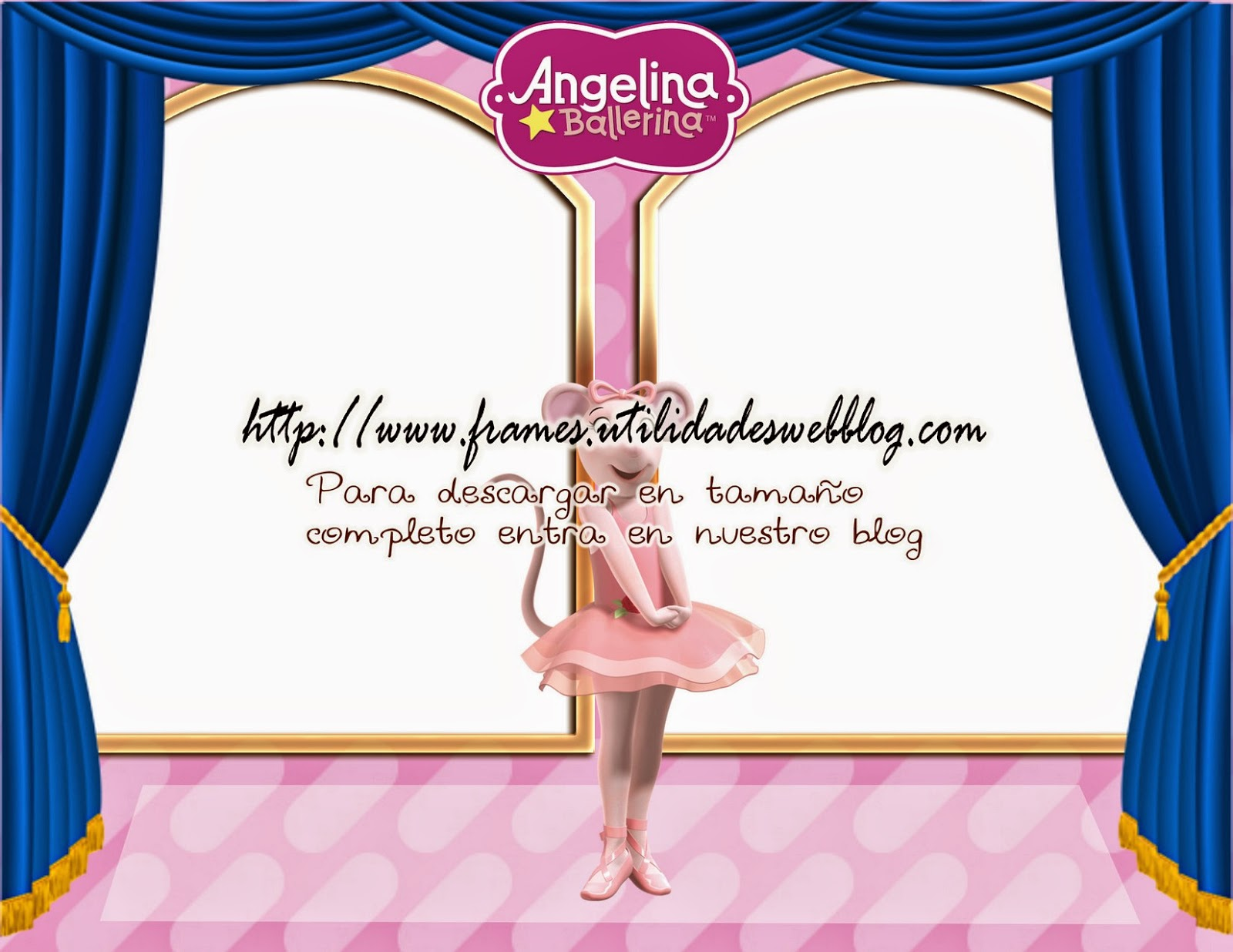Portaretrato para fotomontajes de Angelina Ballerina