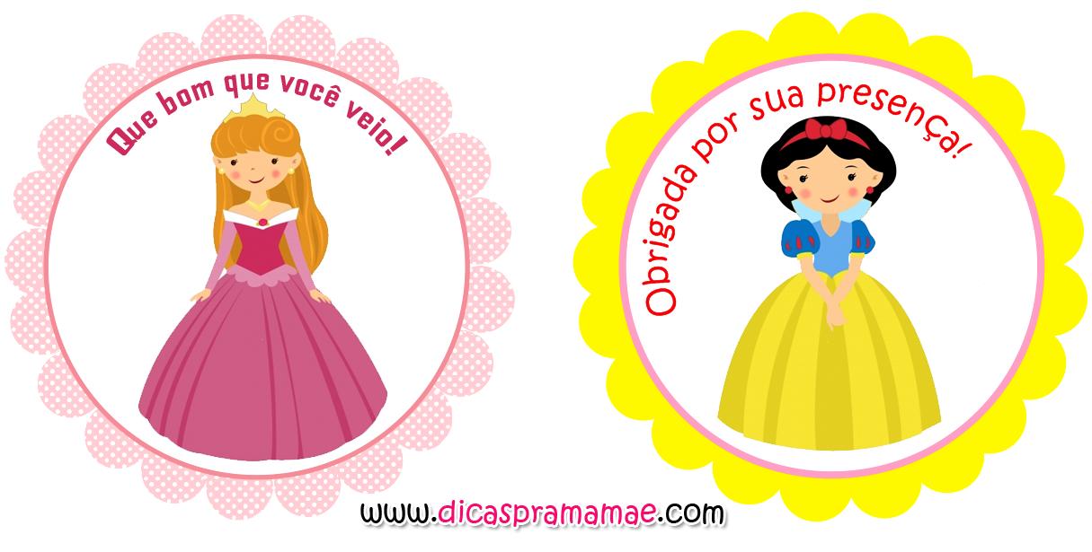 Tags De Princesas Gratuitas Dicas Pra Mamae