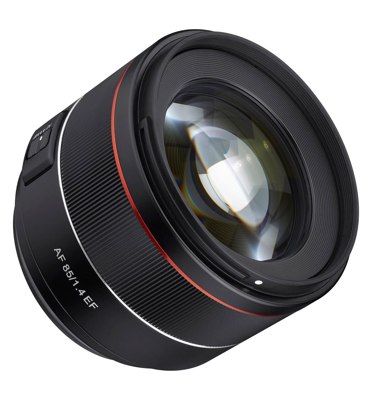 Samyang AF 85mm f/1.4 EF, вид спереди