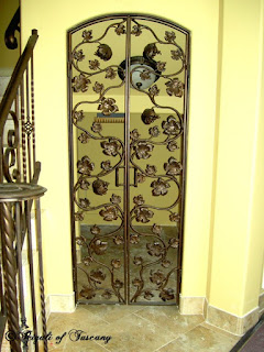 Don Rigali designed wine cellar doors.