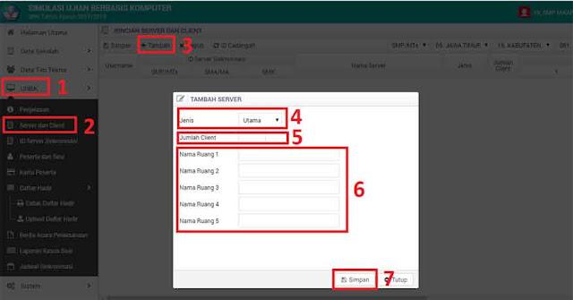 Cara Menambah Server dan Client di Web UNBK