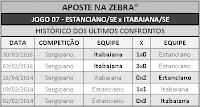LOTECA 697 - HISTÓRICO JOGO 07
