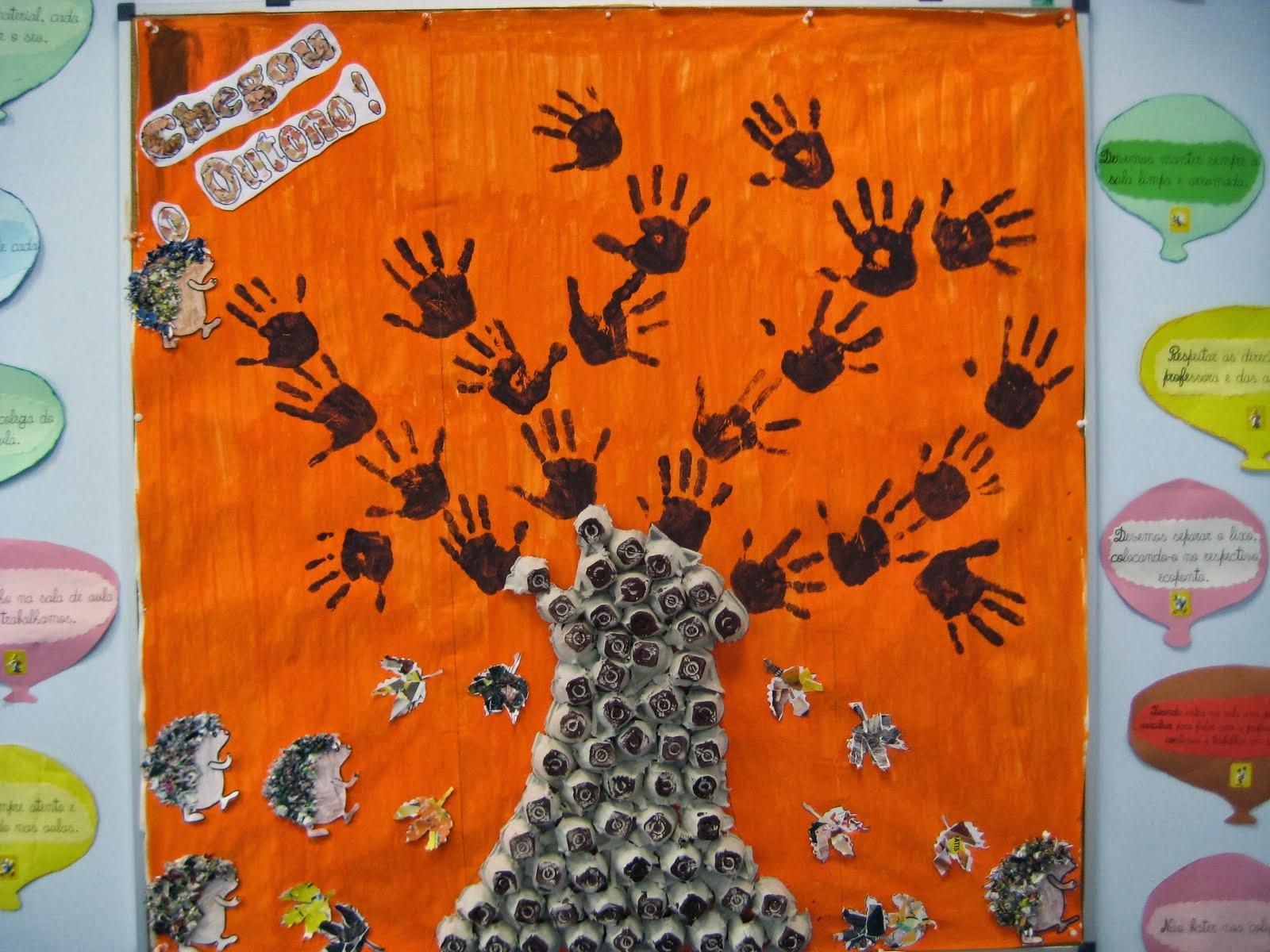 El arte de educar ideas para adonar el aula en oto o for Murales infantiles para preescolar