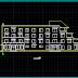 مشروع عمارة سكنية بسيطة اتوكاد dwg